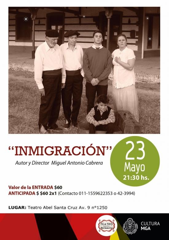 """Se presenta en el Teatro Municipal la obra """"Inmigración"""""""