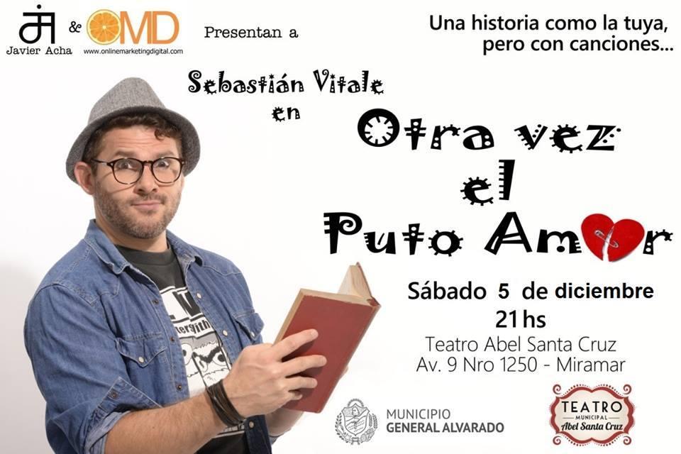 Miramar: Se presenta la obra «Otra vez el puto amor», en el teatro «Abel Santa Cruz»
