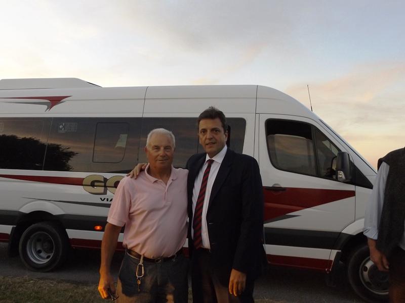 Fuerte apoyo de Sergio Massa al intendente Germán Di Cesare