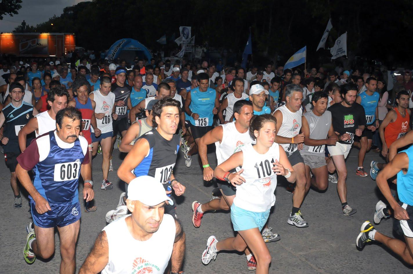 Con alrededor de 400 inscriptos, se realizó una nueva edición de la maratón nocturna