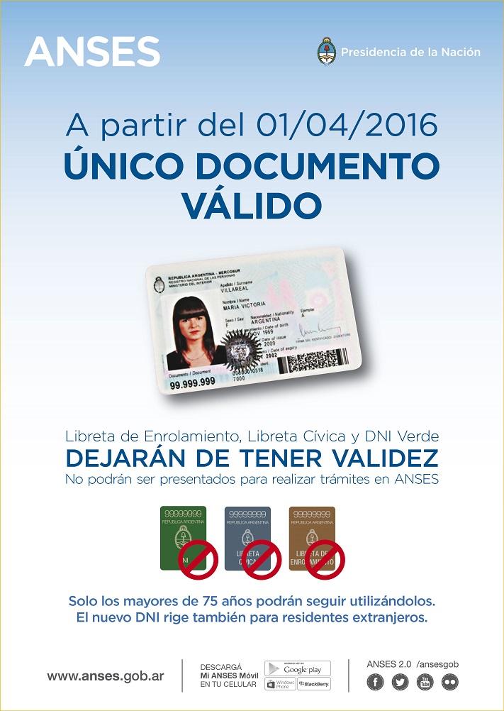La ANSES sólo aceptará el DNI tarjeta para realizar trámites