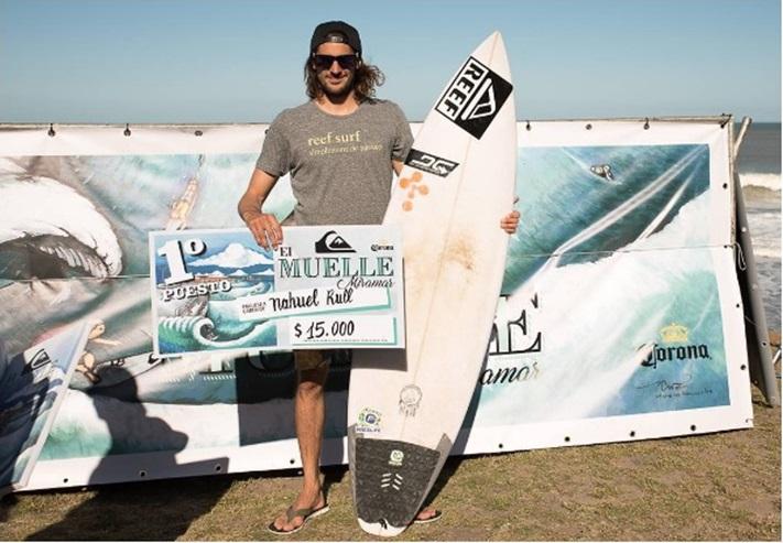 Miramar: Surf: Nahuel Rull Campeón del Quiksilver El Muelle 2016