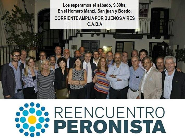 """CABA: Se lanza la mesa """"Reencuentro Peronista"""", con Alberto Fernández, y Patricia Vaca Narvaja"""