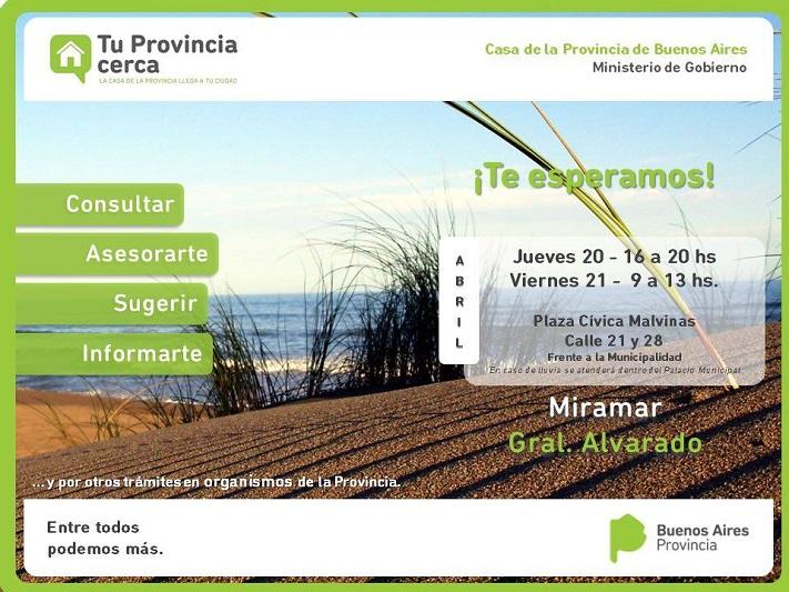 """Llega a Miramar """"Tu provincia cerca"""", el programa para realizar trámites y consultas"""