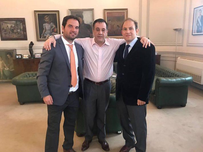 Reunión de Finocchiaro, Goroyesky, y el embajador de Argentina en Costa Rica, M. Caucino