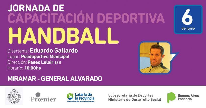 Miramar: el 6 de junio disertará Eduardo Gallardo, ex entrenador de handball la selección argentina