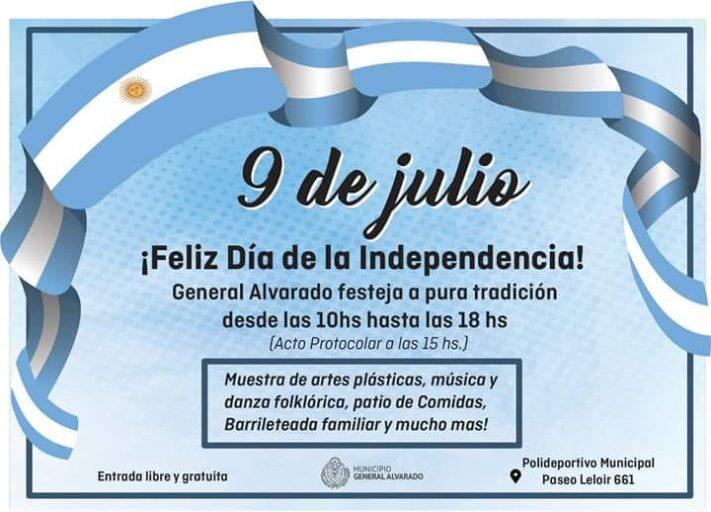 General Alvarado Celebra a Pura Tradición el 202º Aniversario de Nuestra Independencia Argentina