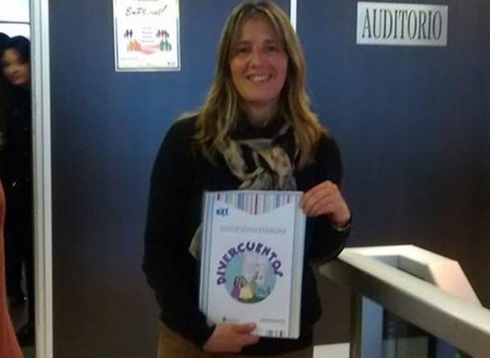 La Plata: Paula Mercier, Bibliotecaria Municipal, presente en la presentación de DIVERCUENTOS