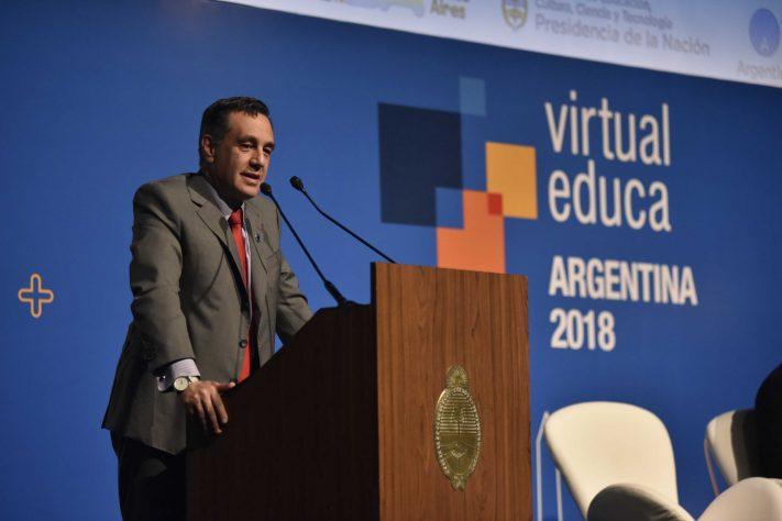 Finocchiaro y Larreta participaron de la apertura del evento internacional Virtual Educa 2018
