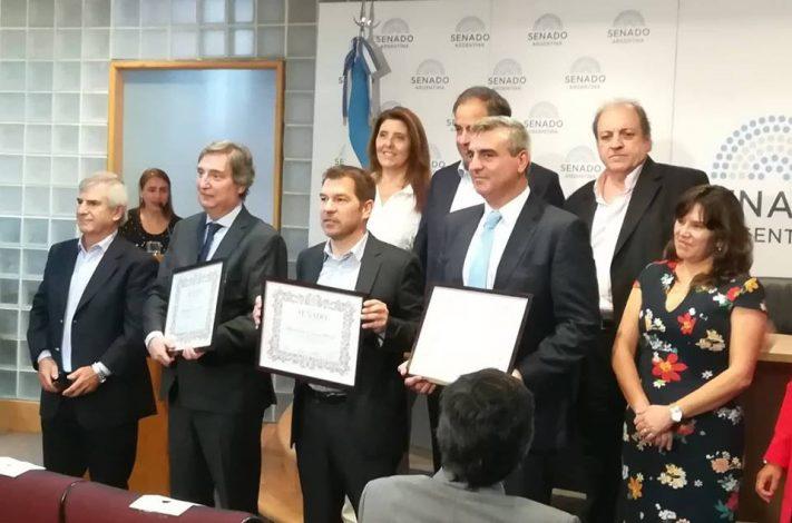 Gral Alvarado: el Senado reconoció la buena gestión municipal de Di Cesare
