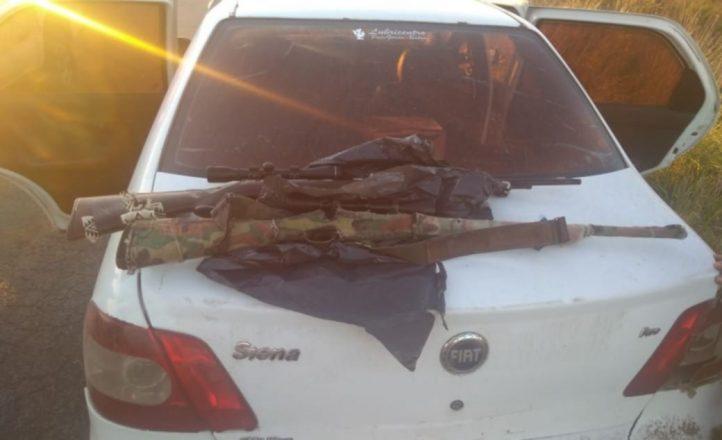 Los pararon camino a la Polola: tenían armas largas, municiones, cuchillos y un reflector