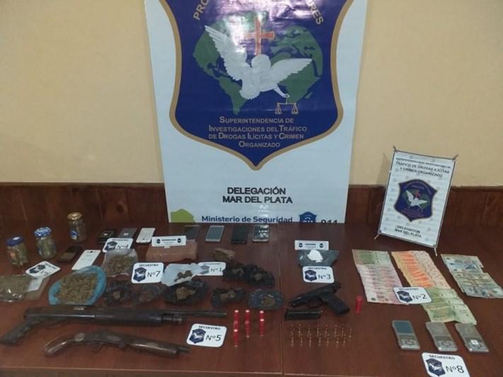 Cayó en Mar del Plata una banda narco que vendía droga en Balcarce