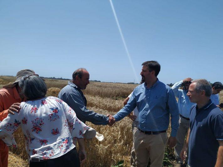 Miramar: El Ministro de Desarrollo Agropecuario de la Provincia de Buenos Aires visitó la Chacra Experimental.