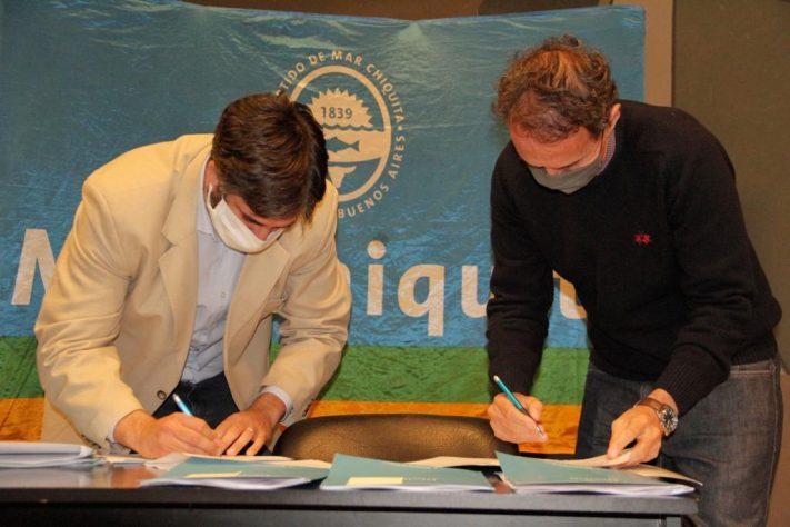 El Intendente Municipal, S. Ianantuony firmó un convenio con Obras Públicas
