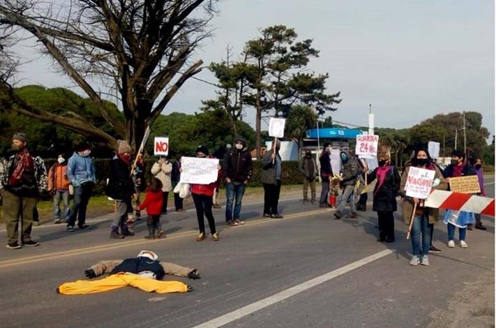 Corte de ruta y protesta por la reducción del servicio de salud en Chapadmalal