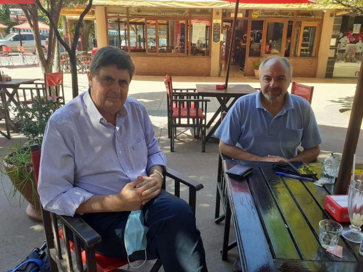 Miramar: Darío Alimonta con el Intendente de San Cayetano