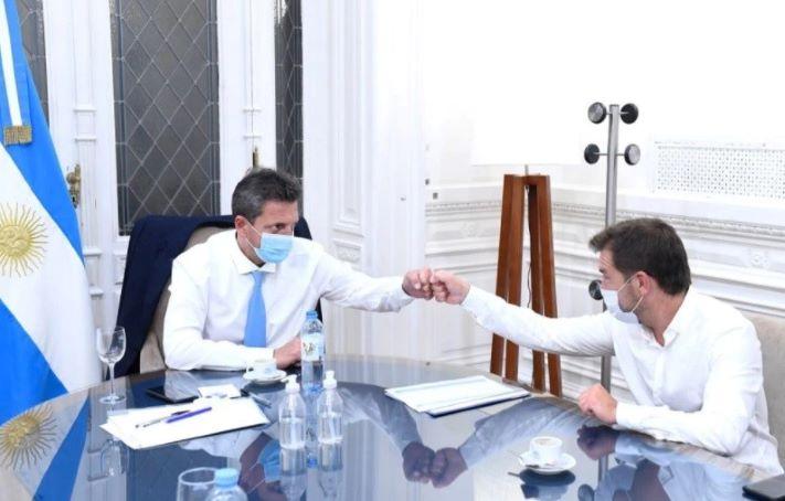 Di Césare se reunió con Massa y apoyó el proyecto de Ganancias